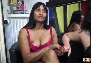 French Indian Milf gets a BBC gangbang